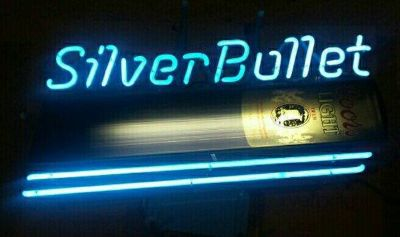Coors Silver Bullet Neon Sign