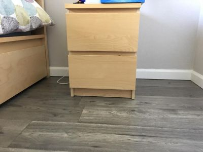 2 Nightstands, two-drawer chests