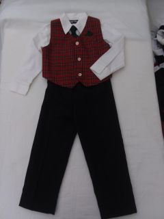 Boy's holiday vest and tie outfit size 4