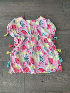 Girls size 6/6x can be worn as swim coverup, dress, or tunic