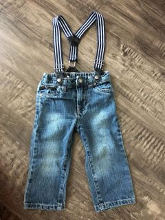 Adorable 12M pants with suspenders!!! Poms