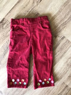 Worn once red Gymboree pants 12-18 months