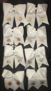 PONY TAIL cheer style Holiday bows!