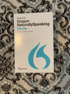 Nuance Dragon speech recognition dictation software.