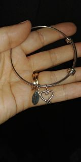 Sterling silver bangle expandable