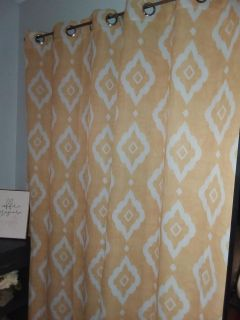 Yellow and white curtains for 2 windows