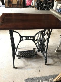 Vintage Sewing Table with casters
