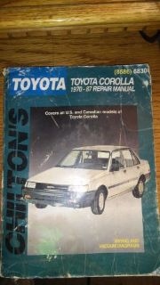 Purchase CHILTON'S TOYOTA COROLLA 1970-87 REPAIR MANUAL PART NO. 68300 [8586] motorcycle in Golden Valley, Arizona, United States, for US $6.85