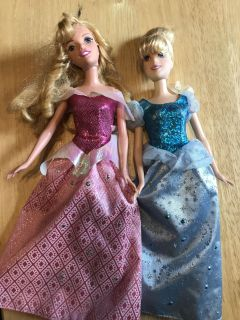 Sleeping Beauty & Cinderella Barbie Dolls