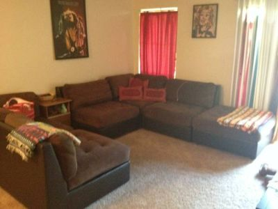 BEAUTIFUL Micro fiber and leather sectional couch