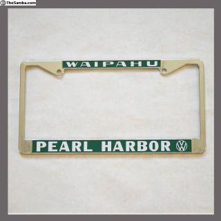 Waipahu Hawaii Pearl Harbor License Plate Frame