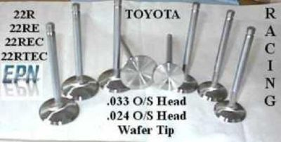 "Sell 22R 22RE Toyota Stainless forged H/P OVERSIZE valves, 1.803"" & 1.481"" 81-95 motorcycle in Portland, Oregon, US, for US $58.00"