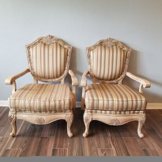 French Provincial, Solid Wood Arm Chairs!