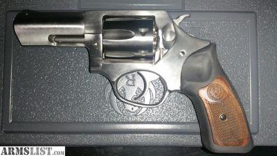 """For Sale: Ruger SP101 3"""" .327 Federal Magnum w/ Altamont grip, gunsmith trigger job, 2 holsters, ammo"""