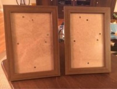 2 Dark Picture Frames
