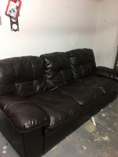 1 Brown Sofa and 1 Love Seat