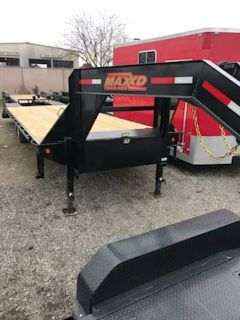 """2018 MAXXD TRAILERS 25'X102"""" GN FLATBED WITH SINGLES Equipment Trailer Trailers Elk Grove, CA"""
