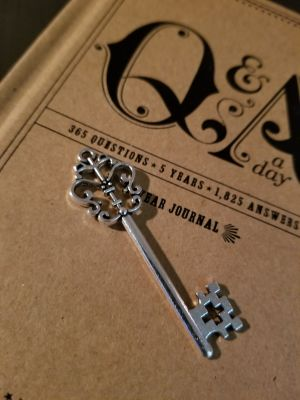 Key charm 2.5 inch not sterling silver
