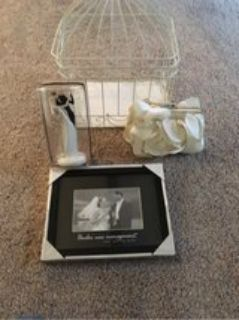 Wedding Collection - Card Container, Bride and Groom Figurine, Small Purse and 4 x 6 Frame
