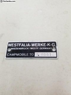 Westfalia Werke Interior Badge