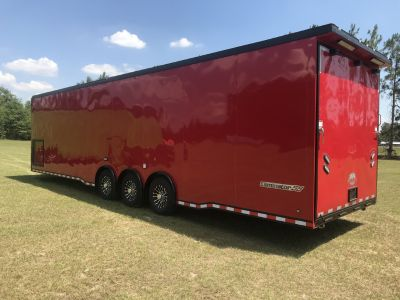 2020 Custom Red on Black Race Trailer