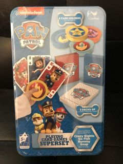 Paw Patrol playing card games super deck NEW