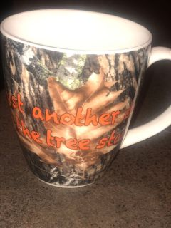 Just another day in the Treestand coffee mug