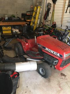 Riding Mower and Double Bagger-Honda