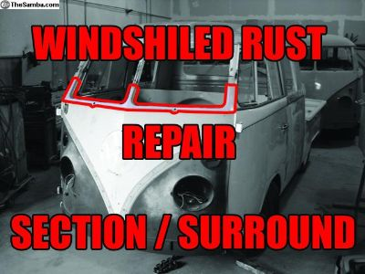 Type 2 Bus Front Windshield Rust Repair Section