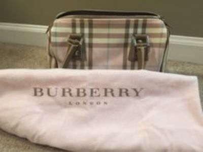 Burberry Pink Nova Check Handbag