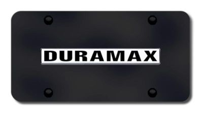 Buy GM Duramax Name Chrome on Black License Plate Made in USA Genuine motorcycle in San Tan Valley, Arizona, US, for US $33.38