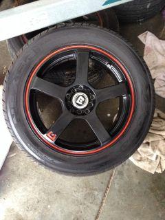 "17"" rims/tires very new"