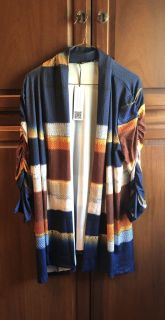 NWT Lily cardigan with rouched sleeves