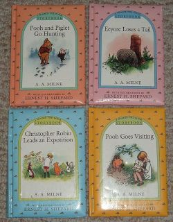 Vintage 1997 Winnie The Pooh Storybook Collection Lot of 4 Puffy Hardcover Books