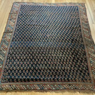Antique Rug 4' 9 x 5' 9 Blue Persian Rug