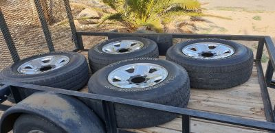 4 Firestone Transforce AT Tires &Rims 8 lug