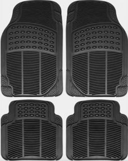 Purchase OxGord 4 Piece Seashell Style Rubber Car Mats FMPV04A-BK motorcycle in Angola, Indiana, United States, for US $21.79
