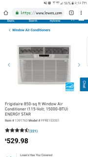 Frigidaire window unit