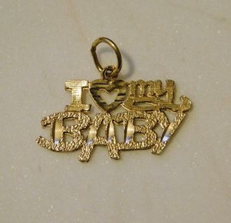 14K Gold Necklace Charm