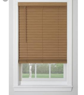 Brown window blinds 35-36""