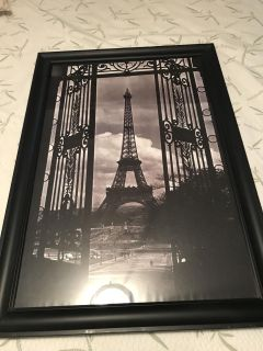 BIG Eiffel Tower picture in frame