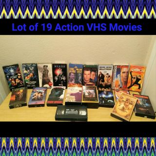 LOT OF 19 ASSORTED VHS