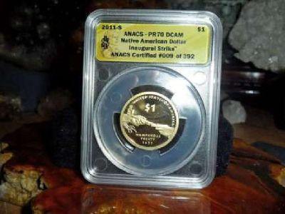 Exceptional 2011-S Sacagawea Dollar Native American Dollar ANACS PR 70 DCAM-Ina