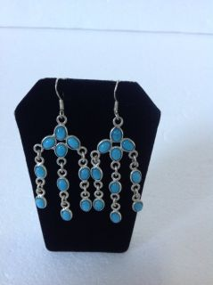 New! Sterling Silver 925 Earrings turquoise