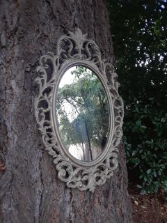 "20"" x 33"" Heavy Cast Iron Framed Mirror"