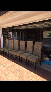 Six Seagrass chairs