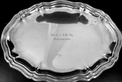 US Air Force Silver Plated CommemorativeTray Mid '50's