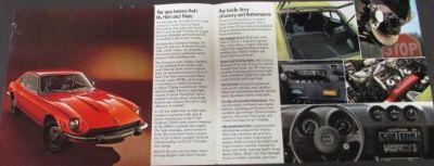 Buy Original 1974 Datsun 260-Z Dealer Prestige Sales Brochure Folder 2+2 Rare motorcycle in Holts Summit, Missouri, United States, for US $15.74