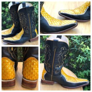 SIERRA DE LOBOS Size 10 USA (29 Mexico) All Leather Designer Mens COWBOY BOOTS-See description THESE ARE EXTREMELY HARD TO FIND! PRICE FIRM