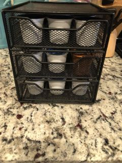 K cup shelf with k cups included!